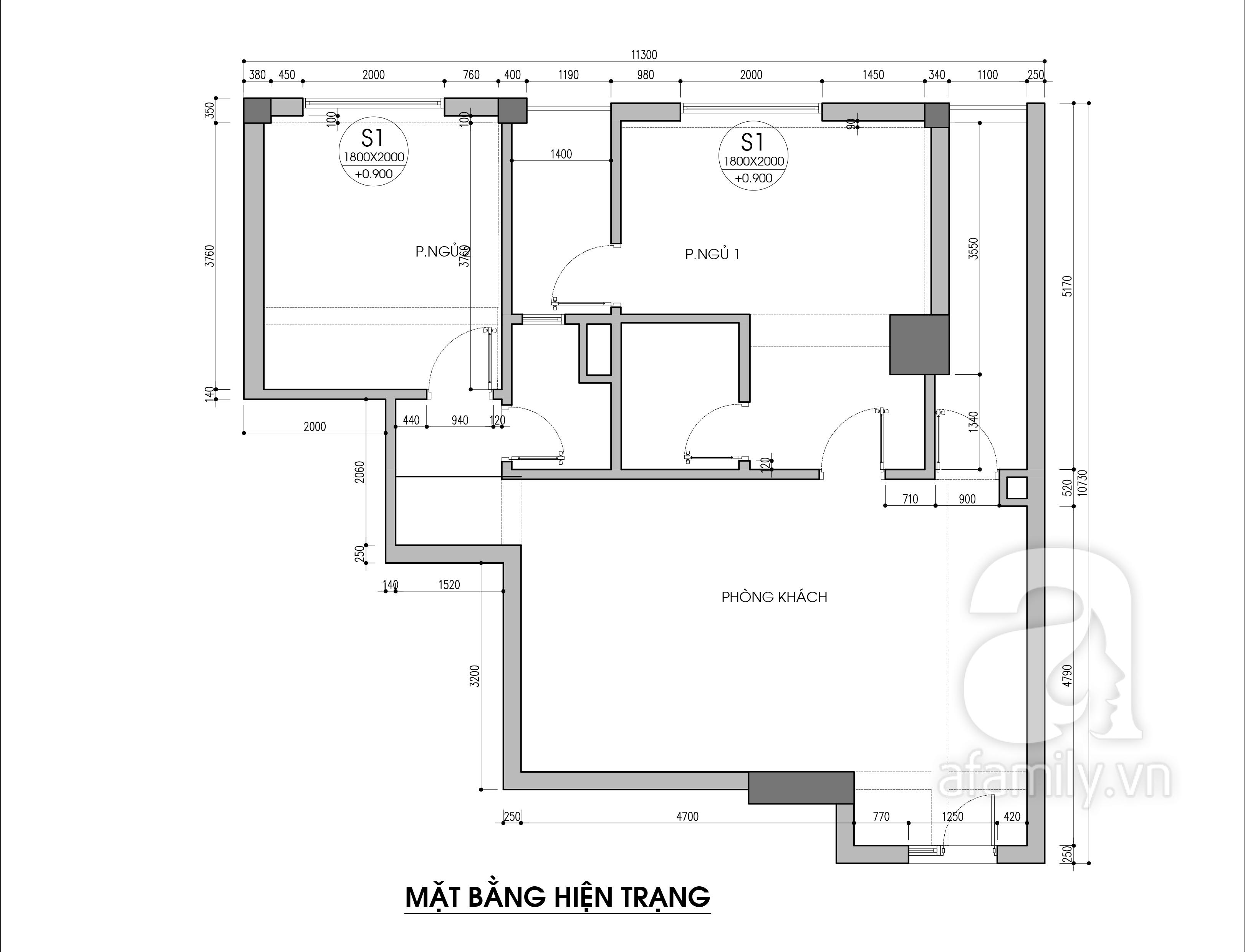 Tư vấn thiết kế cải tạo căn hộ chung cư diện tích 79m² với tổng chi phí 140 triệu đồng - Ảnh 2.