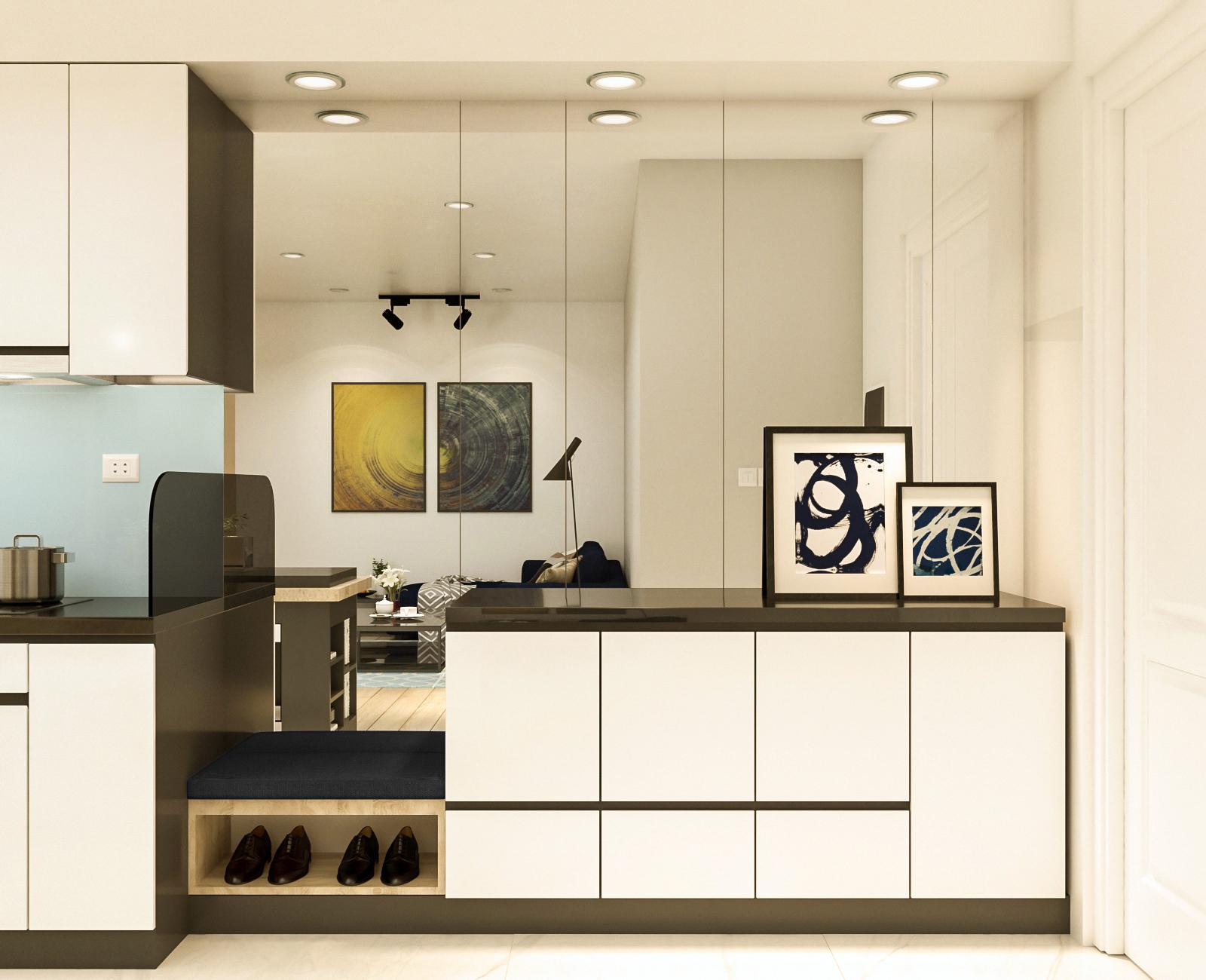 Tư vấn thiết kế cải tạo căn hộ chung cư diện tích 79m² với tổng chi phí 140 triệu đồng - Ảnh 4.