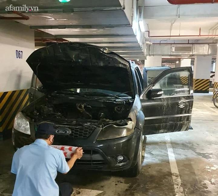 Hà Nội: Láo loạn cháy xe ô tô ở tầng hầm chung cư cao cấp - Ảnh 3.