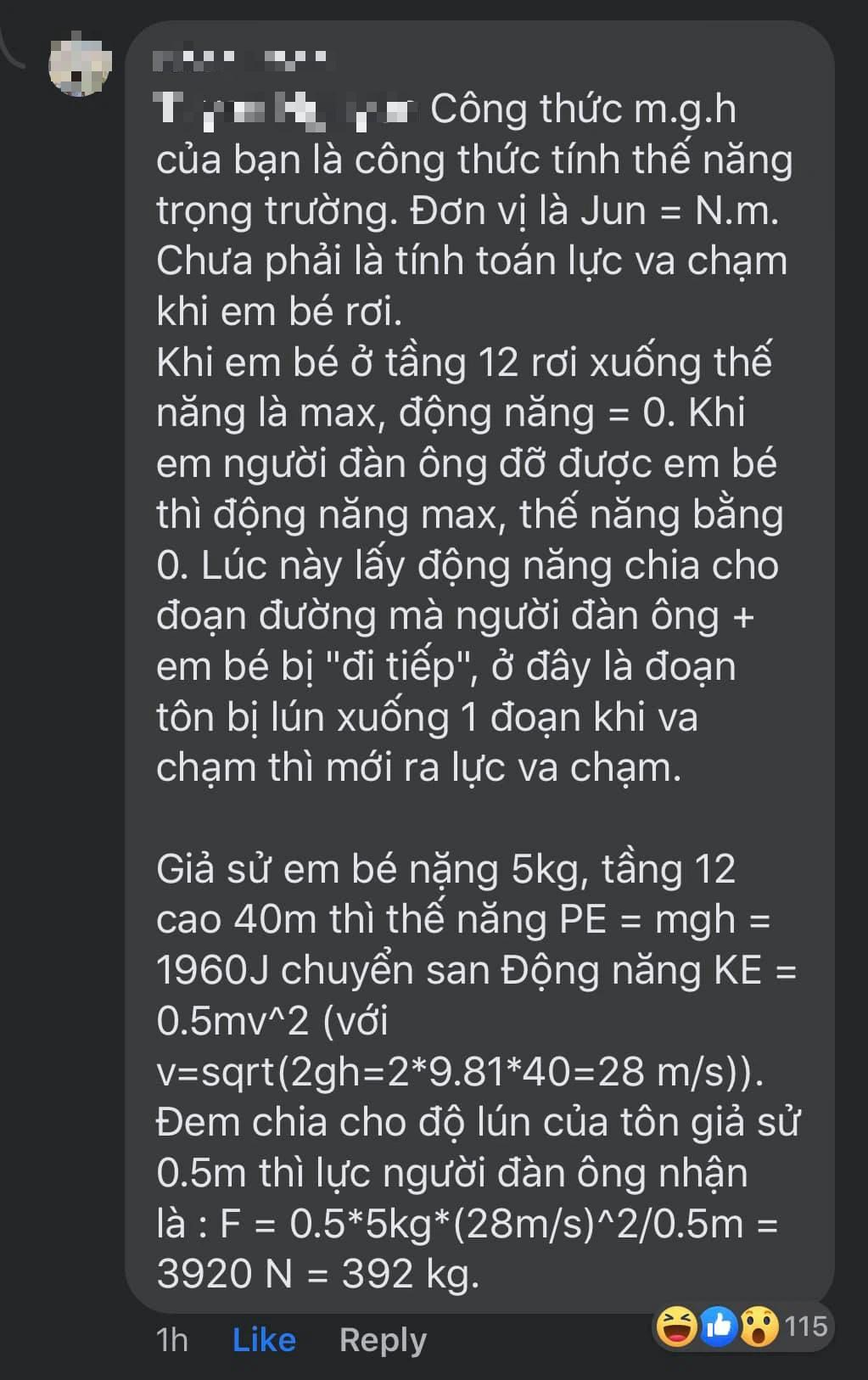 """Vụ cứu sống bé gái rơi từ tầng 12 chung cư Hà Nội: Dân mạng kinh nể tính toán ra số cân nặng mà """"người hùng"""" phải chịu khi đỡ bé - Ảnh 4."""