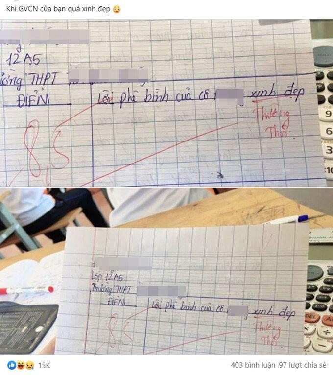 """Học sinh khoe bài kiểm tra 8,5 điểm liền nhận được hàng chục nghìn lượt thích vì màn """"đối đáp"""" bá đạo giữa cô và trò - Ảnh 1."""