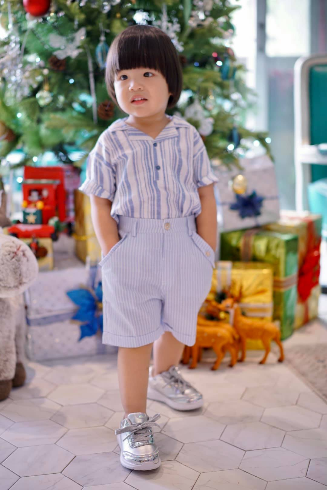 Diễn viên Lê Khánh cho con trai để tóc dài như con gái, ai hỏi giới tính của bé đều đưa ra câu trả lời ngã ngửa - Ảnh 9.