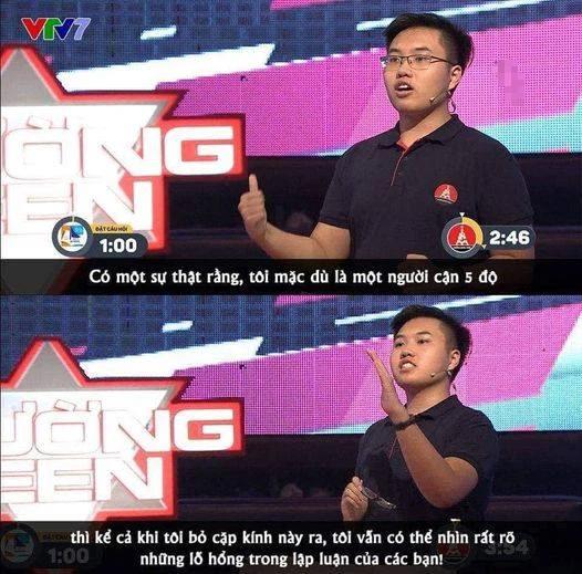 Trổ tài tranh luận trên VTV, nam sinh Hà Nội nói đúng 1 câu mà dân tình dậy sóng: Lần đầu thấy có người