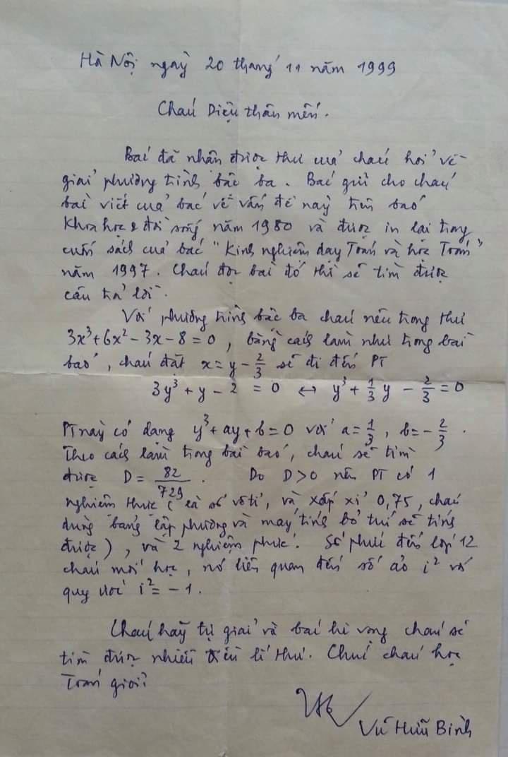 Bức thư trao đổi kiến thức Toán học 22 năm trước bất ngờ gây sốt trở lại, xem tên tác giả mà một trời ký ức ùa về - Ảnh 1.