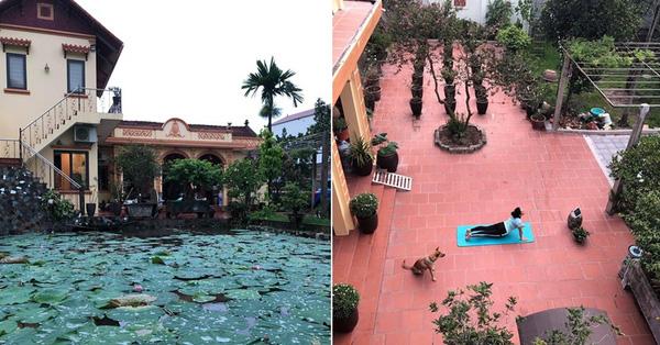 Bỏ nhà phố, cặp vợ chồng trẻ an nhiên với ngôi nhà bên vườn cây, ao cá tại Gia Lâm, Hà Nội