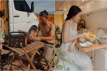 Vợ chồng người Việt biến chiếc xe thành căn hộ tuyệt vời, cùng làm việc từ xa và đưa nhau đi khắp nước Mỹ