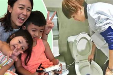 'Sao hết thời' đi cọ toilet: Không ngại bị cười cợt, cách dạy con khiến ai cũng nể phục