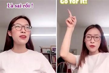 """Khánh Vy dạy cách nói """"Cố lên"""" bằng tiếng Anh gây tranh cãi ỏm tỏi, người Tây giải thích sao?"""