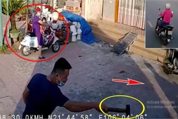 """Tài xế xe tải gây tranh cãi khi chèn ép nữ """"ninja"""", cầm búa đòi nói chuyện phải trái ngay giữa đường khiến 2 bà cháu vạ lây"""