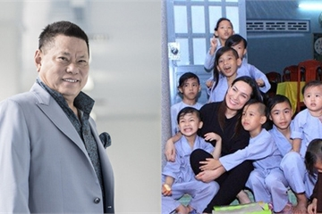 Sau vợ cũ Bằng Kiều, tỷ phú Hoàng Kiều cũng tuyên bố nuôi 23 người con nuôi của Phi Nhung