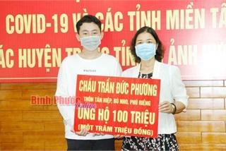 2 học sinh lớp 9 ủng hộ 200 triệu đồng phòng chống Covid-19