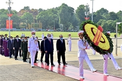 Lãnh đạo Đảng, Nhà nước viếng Chủ tịch Hồ Chí Minh nhân Quốc khánh