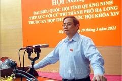 Ông Phạm Minh Chính tiếp xúc cử tri thành phố Hạ Long