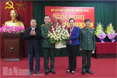 Bộ Chỉ huy quân sự tỉnh Hà Nam có lãnh đạo mới