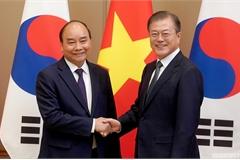 Thủ tướng Nguyễn Xuân Phúc hội đàm với Tổng thống Hàn Quốc Moon Jae-in