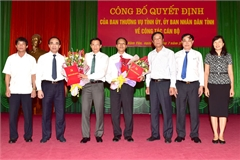 Bổ nhiệm nhân sự 5 tỉnh thành