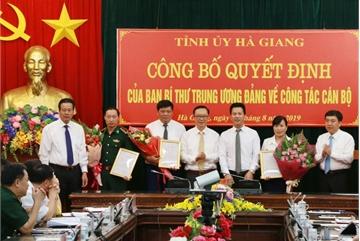Hà Giang công bố quyết định của Ban Bí thư về công tác cán bộ