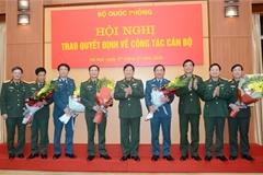 5 tướng lĩnh quân đội nhận nhiệm vụ mới