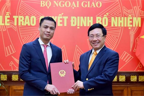 Trao quyết định bổ nhiệm trợ lý Phó Thủ tướng, Bộ trưởng Ngoại giao