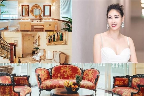Chiêm ngưỡng Penthouse phong cách hoàng gia của hoa hậu Hà Kiều Anh