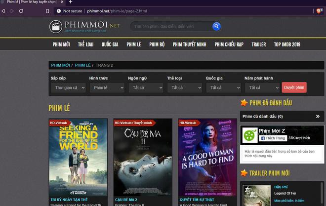 Bên cạnh vua lì đòn phimmoi.net, nhan nhản website xem phim lậu, vi phạm bản quyền vẫn ngang nhiên hoạt động - Ảnh 1.