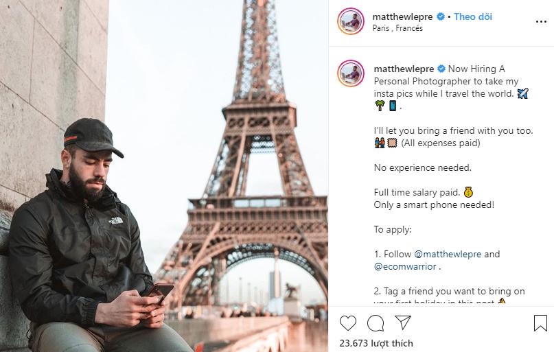 Khi sống ảo 'đào' ra tiền: Chụp ảnh triệu phú điển trai đăng Instagram, du lịch sang chảnh miễn phí, nhận lương 1,3 tỷ đồng - Ảnh 1.