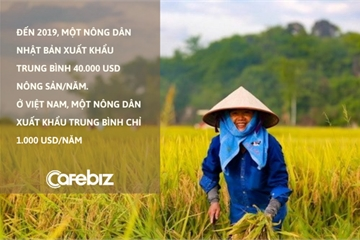 Giáo sư Việt tại Nhật lý giải vì đâu mỗi nông dân Việt xuất khẩu chỉ bằng 1/40 nông dân Nhật: 'Hầu hết dùng smartphone để liên lạc, giải trí hơn là phục vụ nông nghiệp'