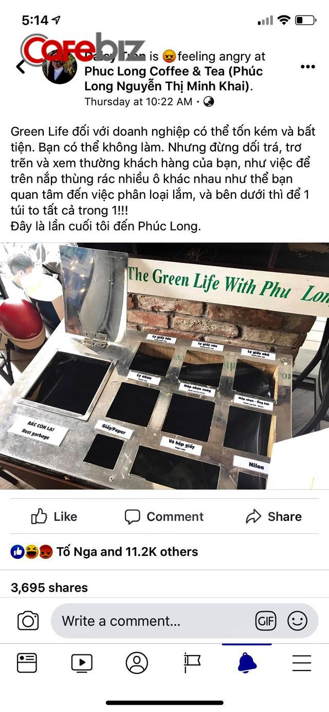 Kêu gọi sống xanh bằng thùng rác phân loại giả tạo, hãng cà phê Phúc Long bị người dùng tẩy chay vì lừa dối và xem thường khách hàng - Ảnh 1.