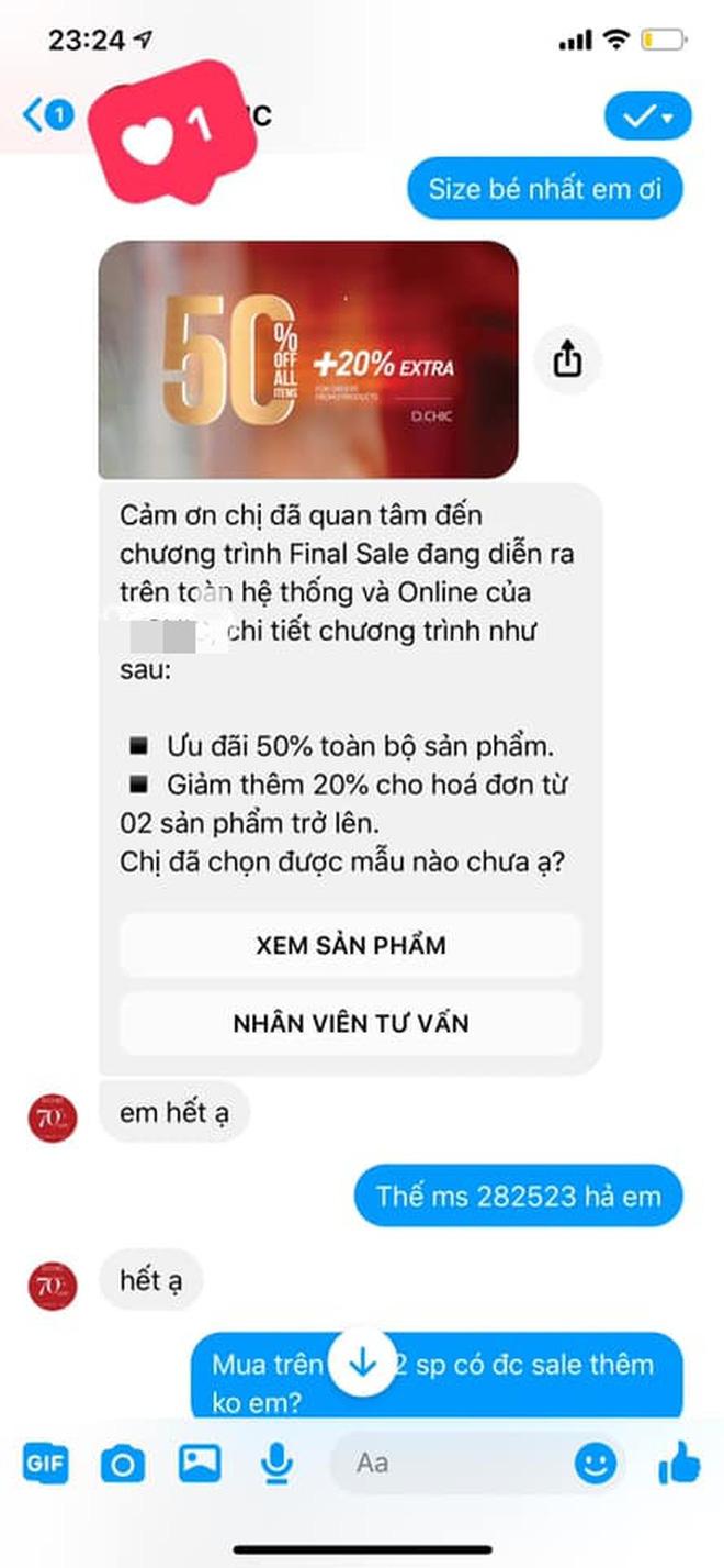 """Một hãng thời trang cao cấp Hà Nội bị tố xử tệ với khách: Admin trả treo Giảm 70% chưa đủ rẻ?, đuổi khách """"ngủ đi cho sớm"""", quà xin lỗi là bánh trung thu kèm giấy ăn vò nát và tóc - Ảnh 1."""