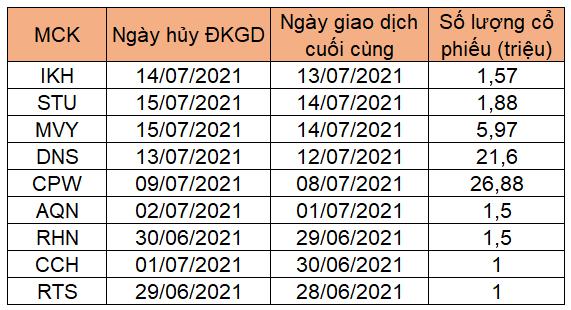 Hàng loạt cổ phiếu rời sàn chứng khoán trong tháng 7 - Ảnh 1.