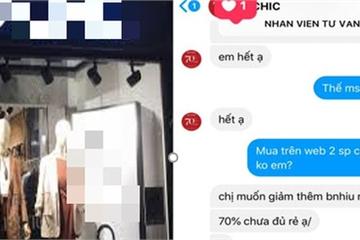 """Hãng thời trang cao cấp ở Hà Nội bị tố xử tệ đuổi khách """"ngủ đi cho sớm""""..."""