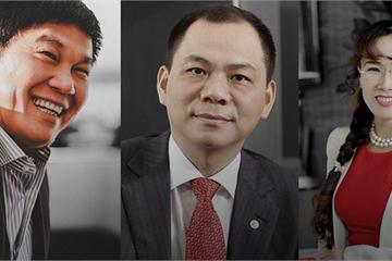 Lộ diện các thiếu gia tỷ phú Phạm Nhật Vượng, Trần Đình Long và nữ tỷ phú đô la