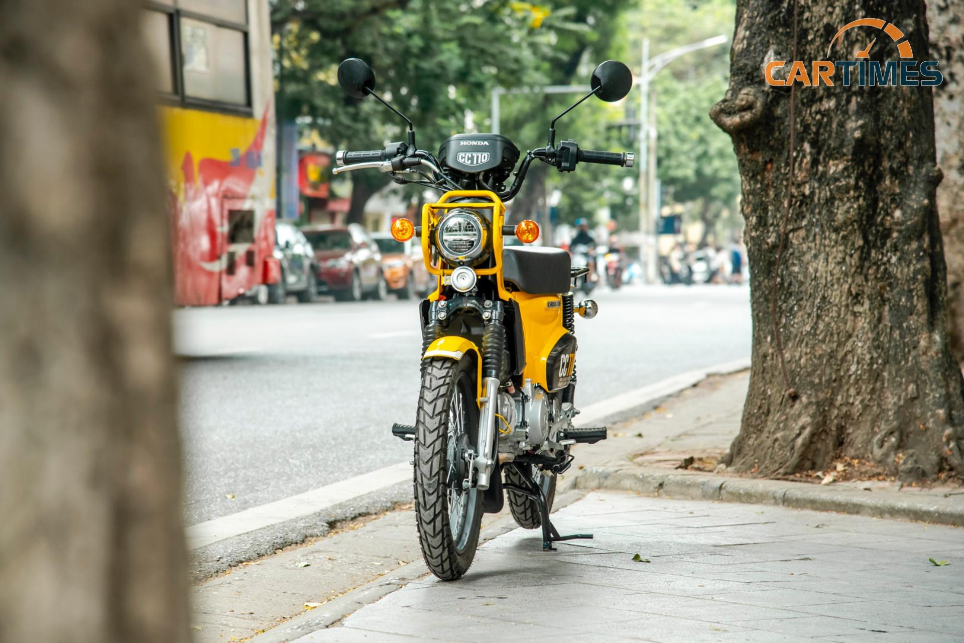 Xe Honda Cross Cub rất dễ nhận ra với ngoại hình khác biệt
