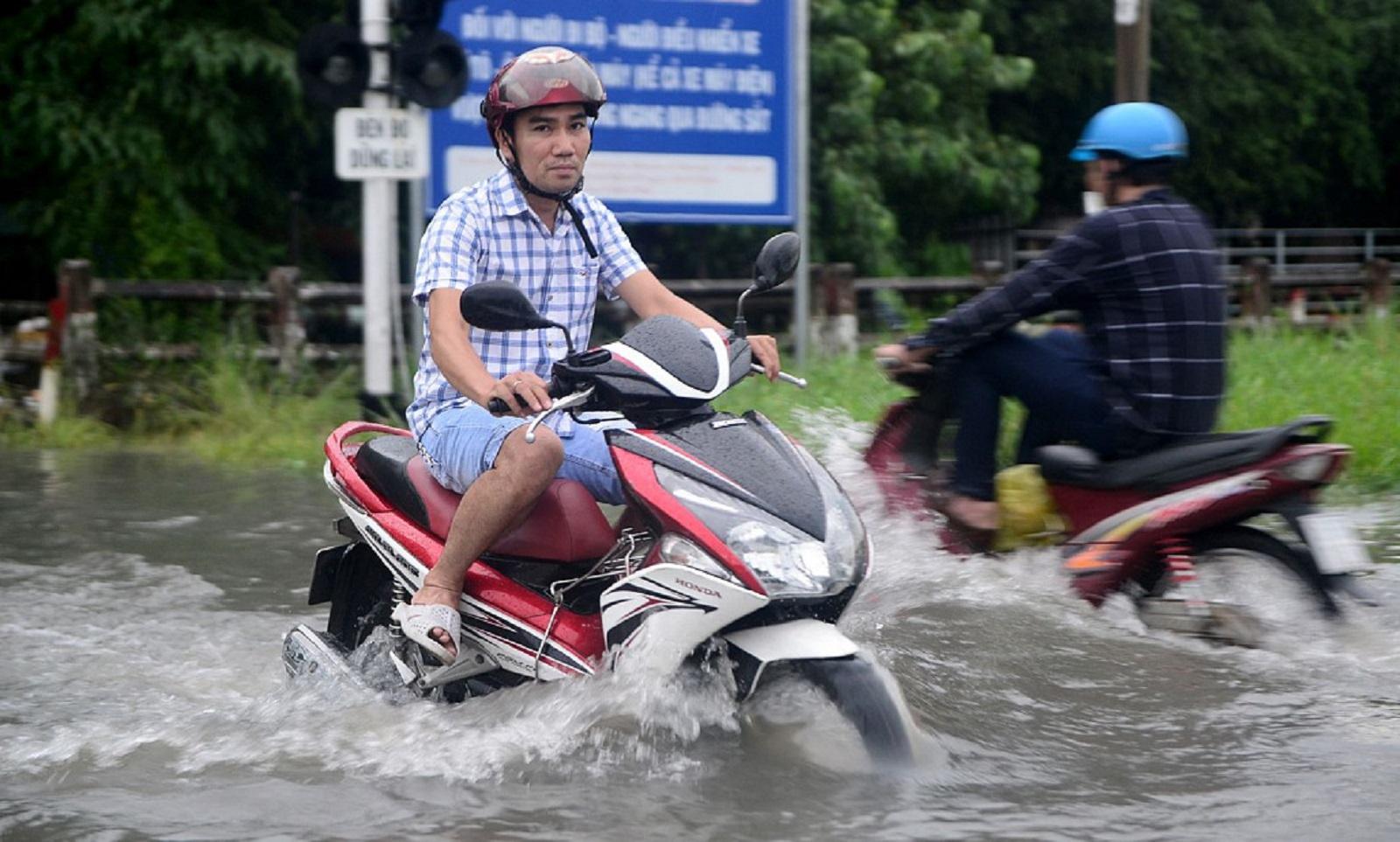 phanh mất tác dụng khi đi xe ngập nước