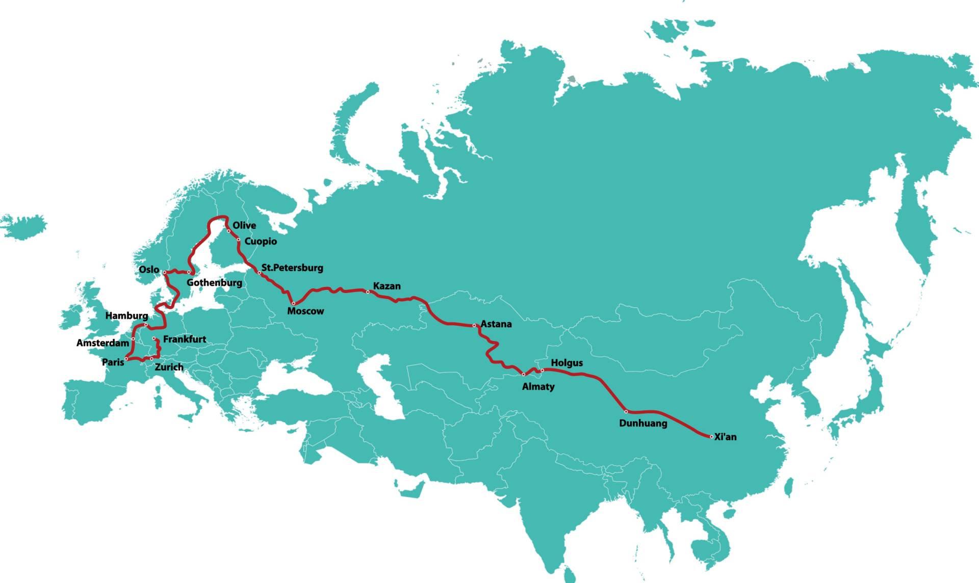 Bản đồ di chuyển của 2 chiếc xe SUV chạy điện Aiways