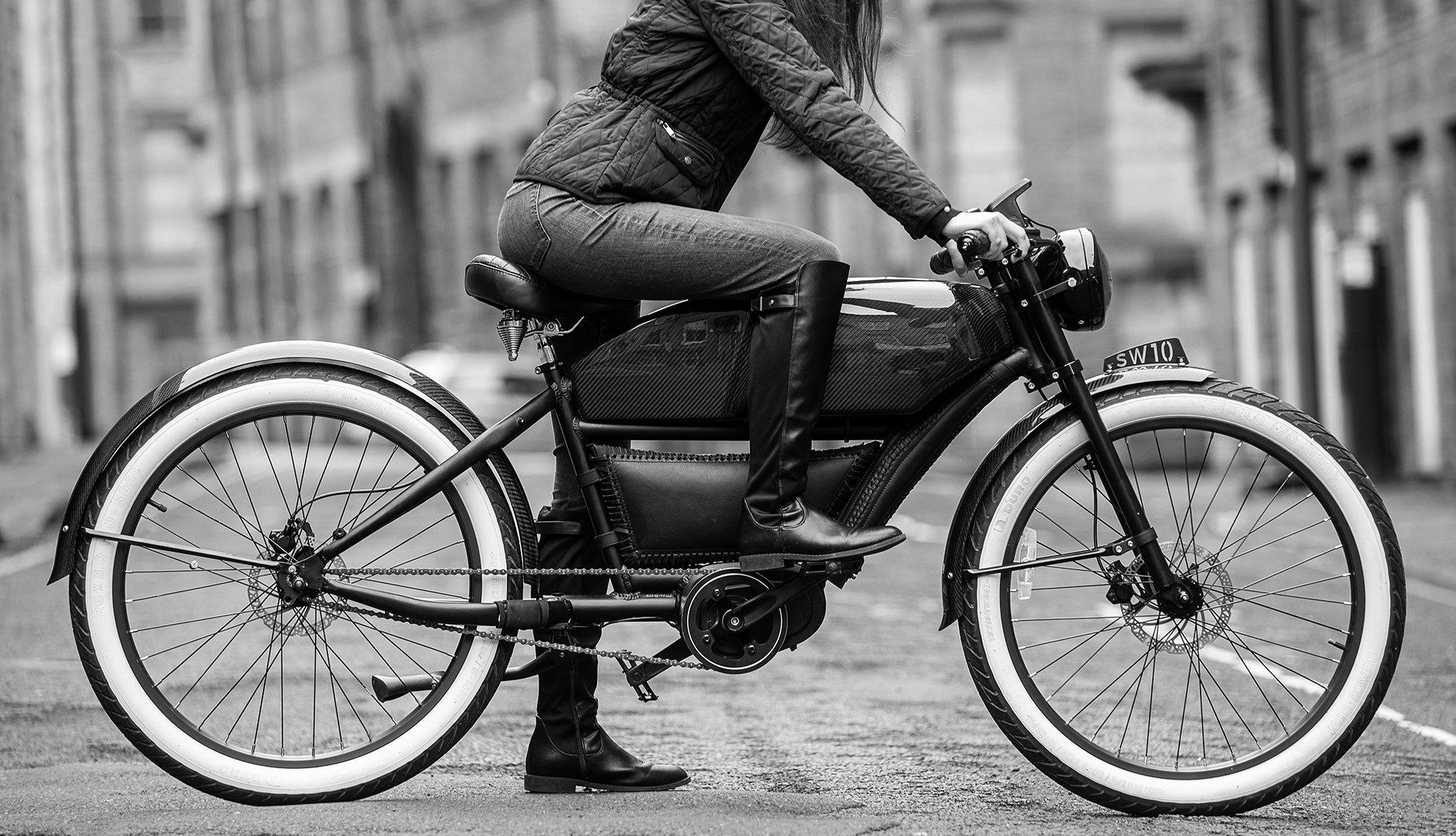 Chiếc xe đạp điện với ngoại hình đặc biệt