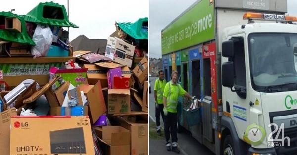 Dọn đống rác thải, bất ngờ nhặt được 460 triệu giấu trong hộp giấy