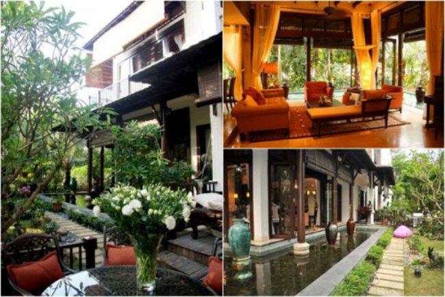 Ngoài ra,gia đình Hà Kiều Anh đang sống tạimột căn biệt thự vườn rộng 500m2 với thiết kế độc đáo, tọa lạc ở khu biệt thự quận 2, TP HCM. Biệt thựvới giá trị lên đến 100 tỷ đồng của người đẹp từng khiến nhiều người xuýt xoa.
