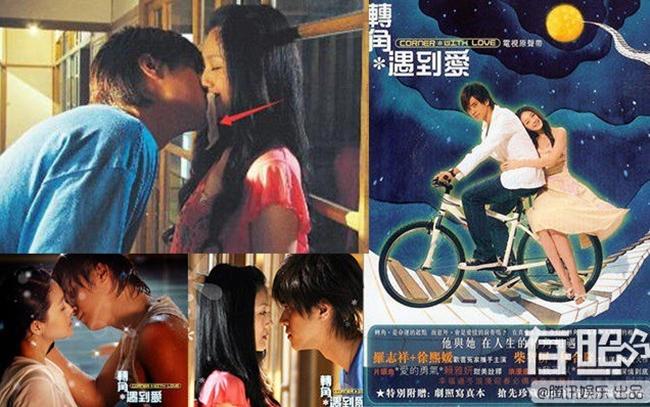 """Khi diễn """"Chuyển giác gặp tình yêu"""", Từ Hy Viên và La Chí Tường có một cảnh khóa môi rất ngọt ngào. Thực chất, nụ hôn của cặp đôi không hề lãng mạn như nhiều người nghĩ khi bị ngăn cách bởi tờ giấy vệ sinh."""