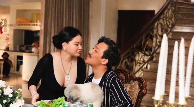 """Cô vợ đang được nhắc tới nhiều nhất của Trấn Thành hiện nay chính là nghệ sĩ hài Lê Giang - người đóng cùng trong web drama """"Bố già""""."""