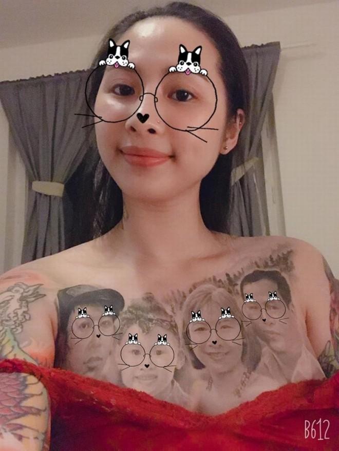 Cô gái Vĩnh Phúc xăm kín ngực bằng bức ảnh chân dung gia đình - 3