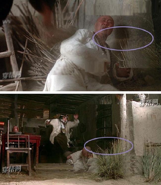 Cảnh phim Chí Tôn Bảo đánh Bồ Đề Lão Tổ (Lưu Trấn Vỹ đóng), dù cảnh chỉ diễn ra trong vài giây nhưng vị trí của Bồ Đề Lão Tổ ngã không hề khớp nhau. Trước đó là ngã sát tường nhưng mấy giây sau lại cách xa.