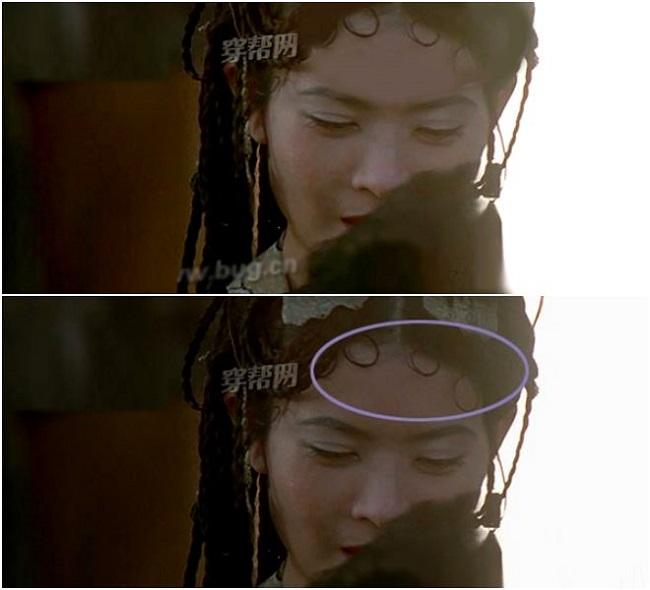 Cảnh Xuân Tam Thập nương (Lam Khiết Anh xuất hiện), ngay trong chớp mắt mà kiểu tóc của nhân vật đã được thay đổi
