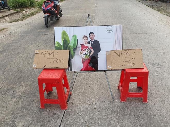 Đám cưới đối diện nhà nhau, cô dâu chỉ mất 10 giây để về thăm ngoại - 2