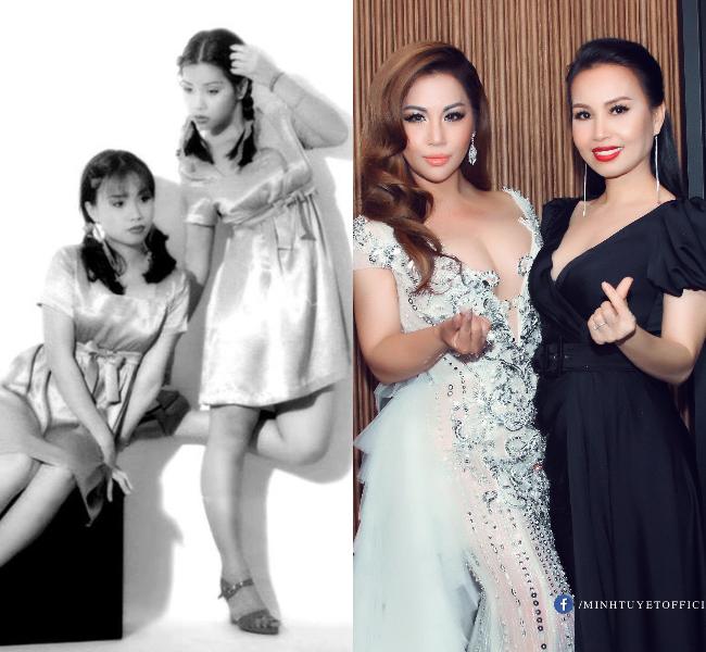 Thời kỳ đầu, Minh Tuyết hát cùng chị Tư Cẩm Ly và là một trong những cặp song ca được yêu thích nhất showbiz Việt.