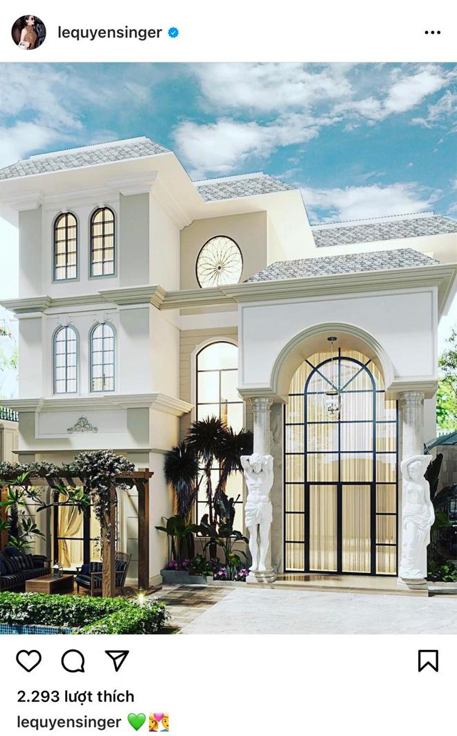 Lệ Quyên hé lộ toàn cảnh biệt thự trắng sau khi chồng cũ khoe nhà