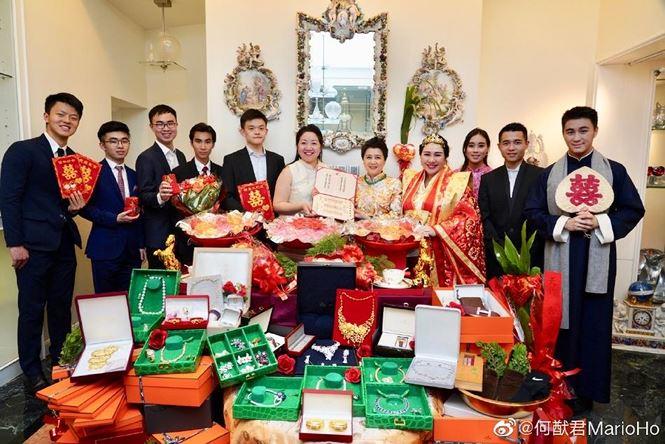 Choáng với sính lễ toàn vàng ròng trong đám cưới con gái 'vua sòng bạc Macau' - 1