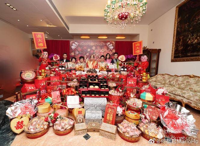 Choáng với sính lễ toàn vàng ròng trong đám cưới con gái 'vua sòng bạc Macau' - 6