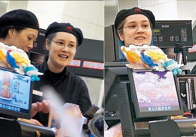 Hình ảnh nữ diễn viên nổi tiếng làm nhân viên thu ngân ở cửa hàng ăn nhanh gây chú ý mạng xã hội. Thu nhập của cô lúc đóchỉ được tính theo giờ vào khoảng 125 HKD (hơn 200 nghìn đồng - thời điểm đó). Công việc rất vất vả, thu nhập ít ỏi nhưng Trịnh Diễm Lệ tỏ ra thoải mái và ổn với cuộc sống đó.
