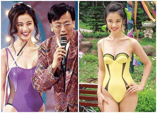 Hình ảnh bikini hiếm hoi của Đàm Tiểu Hoàn trong cuộc thi Hoa hậu Hong Kong 1994.